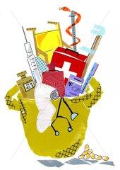 Medizin Korb Arzt Heilen Erste Hilfe Apotheke