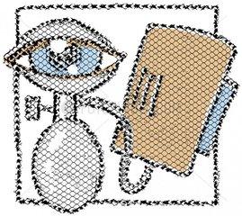 Serie Medizin Augendruck Blutdruck