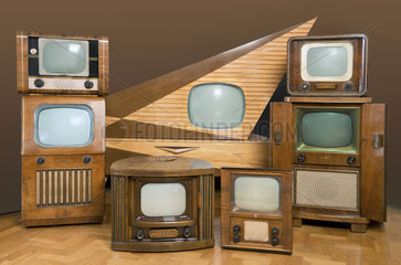 historische deutsche Fernseher  1951 bis 1957