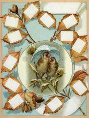Schmuckblatt zur Hochzeit  1895