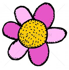 Blume Bluete Symbol freigestellt lila