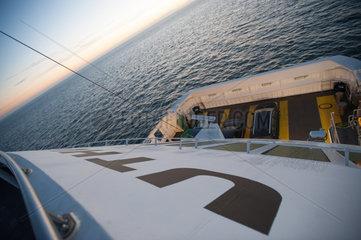 Wyk  Deutschland  mit der Faehre Uthlande auf der Nordsee