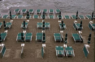 Hochwasser an der Strandpromenade