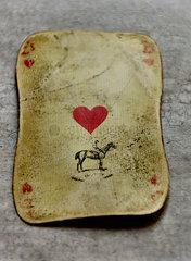 Alte Spielkarte Herz As