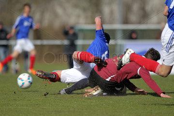 Flensburg  Deutschland  Foulspiel in einem Amateurspiel