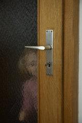 Zimmertuer Schraffiert
