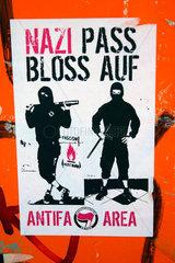 Berlin Antifa Aufkleber