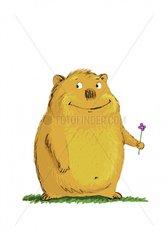 Hamster Sympathiefigur Bluemchen Geschenk Valentinstag