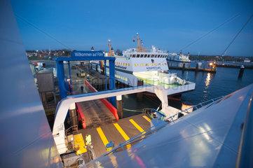 Wyk  Deutschland  Faehren im Hafen von Wyk auf der Insel Foehr