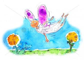 Fliegende Elfe