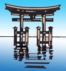 Japanisches Shintoheiligtum