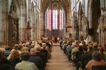 Gottesdienst in evangelischer Kirche in Saarbruecken