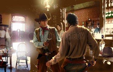Western Saloon Ueberfall