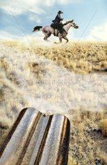 Western Gewehrlauf Flucht