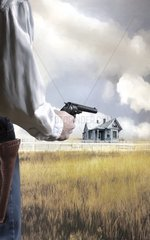Ueberfall einsames Haus Pistole