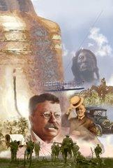 Amerika Historie Collage