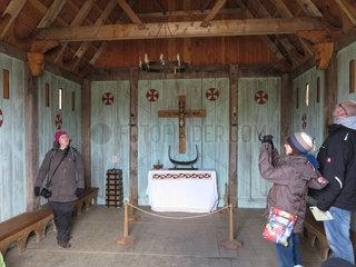 Bork Havn  Daenemark  Wikingerkirche im Bork Vikingehavn des Ringkoebing-Skjern Museum