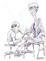 sketch couple
