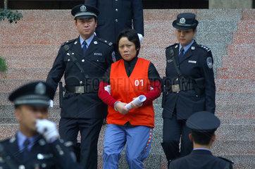 China  Bekaempfung des organisierten Verbrechens