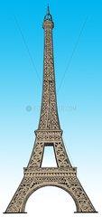 Eiffelturm freigestellt