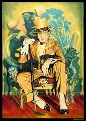Opiumraucher Mann Zylinder