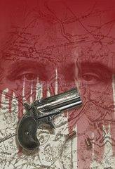 Moerder Manassas Pistole Landkarte Region Suche