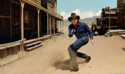 Western Flucht Pistole schiessen