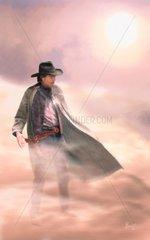 Mann im Nebel Flucht Jagd Western