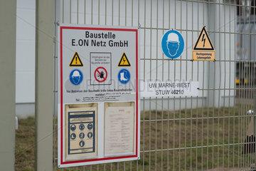 Inbetriebnahme des neuen Umspannwerks Marne-West der e.on Hanse