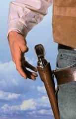 Pistole ziehen Western Hand