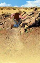 Western Cowboy Verteidigung Flucht