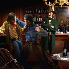 Saloon Pokern Pokerspieler Streit Western