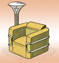Sessel Lampe Wohnzimmer Moebel Einrichtung