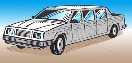 Stretch-Limousine freigestellt Reichtum