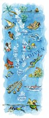 Malediven Landkarte