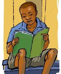 African boy Schulheft