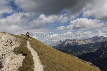wandern in die Dolomiten