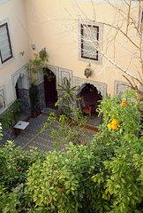 Innenhof eines Riad in Marrakesch