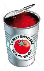 Tomatensosse in der Dose