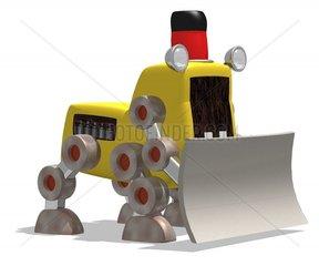 Roboter Schneeschieber