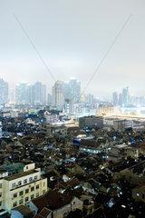 Blick ueber die Altstadt  Shanghai  China