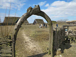 Bork Havn  Daenemark  der Bork Vikingehavn des Ringkoebing-Skjern Museum
