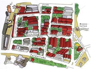 Hamburg Karonlinenviertel Stadtteil Stadtplan
