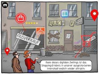 Digitalisierung der Staedte - Serie der digitale Wahnsinn