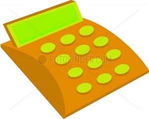 Taschenrechner ocker