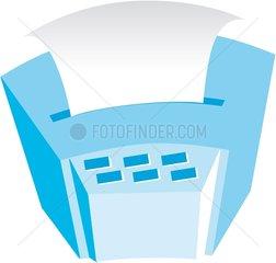 Fax Faxgeraet Buero Symbol Logo freigestellt