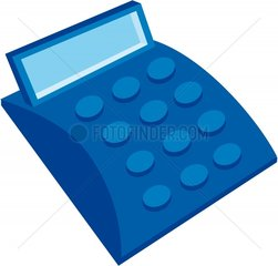 Taschenrechner blau