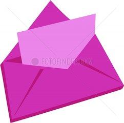 Kuvert pink Brief Post Symbol Logo freigestellt