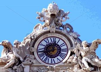 Uhr Petersdom Vatikan