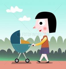 Kinderwagen Mutter Baby Kleinkind